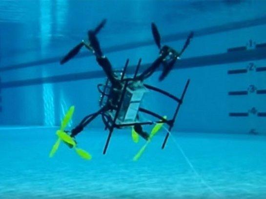 Презентован первый дрон, который может перемещаться и в воздухе, и в воде