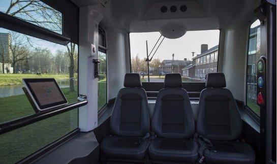 В Нидерландах по улицам начали курсировать первые автобусы-роботы