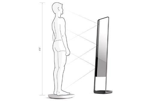 Уникальное «умное» зеркало позволит человеку следить за своей фигурой