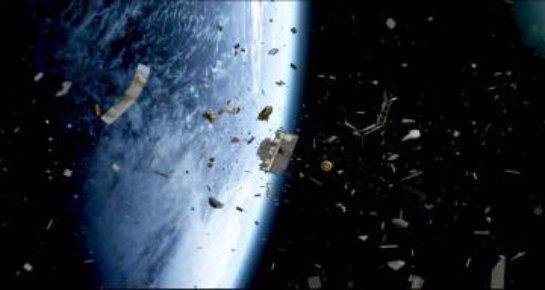 Космическая «липучка» займется вылавливаем мусора в космосе