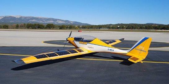 В Америке появился первый учебный самолет, который работает на солнечной энергии