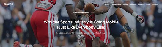 Почему индустрия спорта становится мобильной?