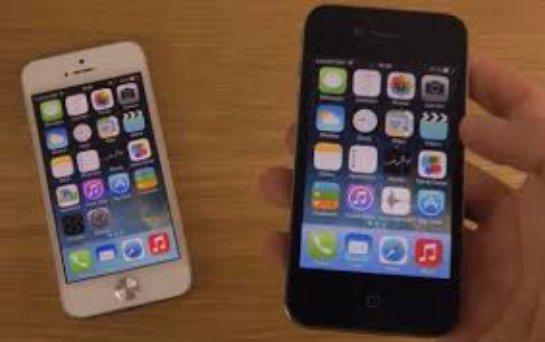 Работа ios 7 на iphone 4