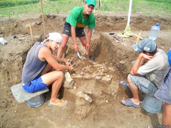 Под Мариуполем нашли останки великана