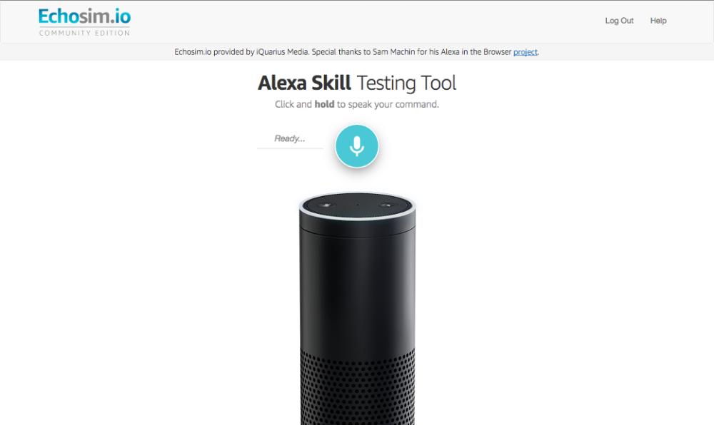 WWW: Echosim.io —Amazon Echo в браузере