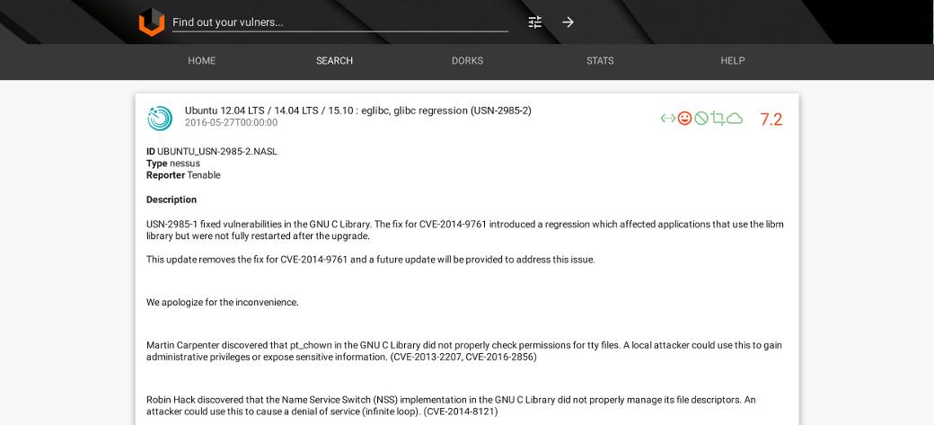 Найденная уязвимость с GNU C Library