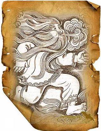 Славянский бог ветра Стрибог (сайт myfhology.info)