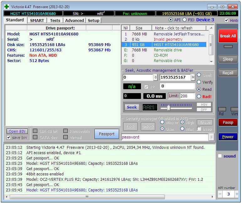 Победа над «бэдами»: используем Victoria для восстановления данных и сброса пароля диска