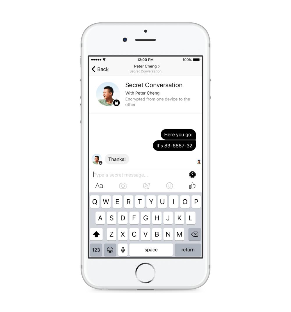 Facebook добавила опциональное end-to-end шифрование в свой мессенджер