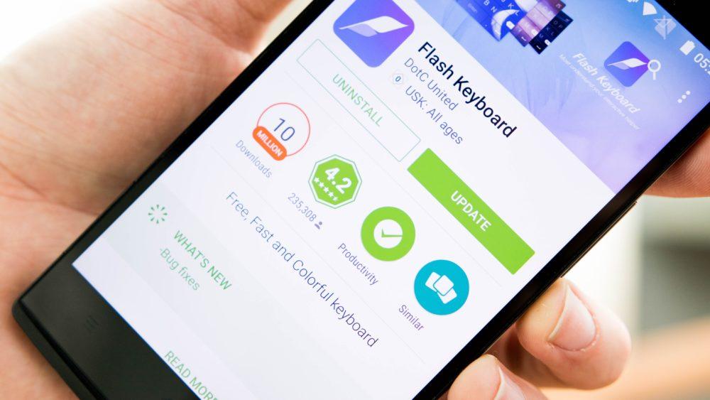 Популярная клавиатура для Android шпионит за 50 миллионами пользователей