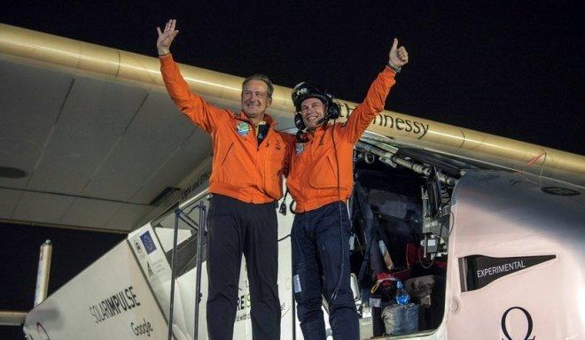 Solar Impulse 2 завершил кругосветное путешествие