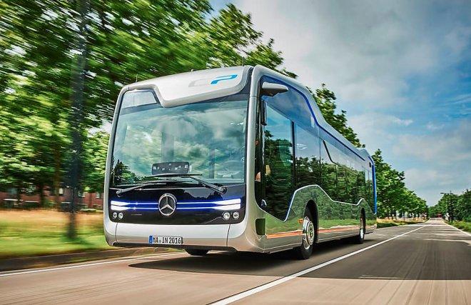 Mercedes-Benz представил прототип беспилотного автобуса будущего
