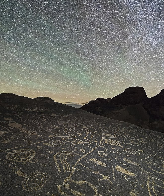 Млечный путь. Древние петроглифы