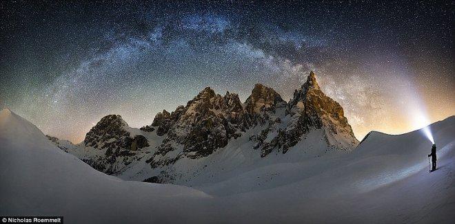Млечный путь. Итальянские Альпы.