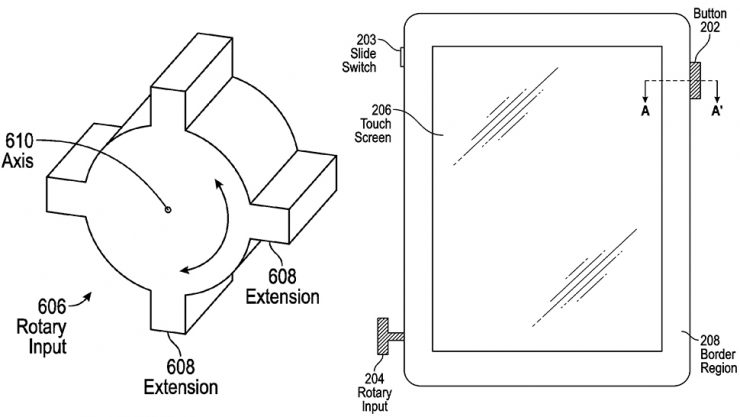 Apple запатентовала Digital Crown для iPhone и iPad