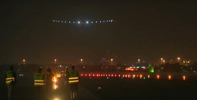 Посадка Solar Impulse 2