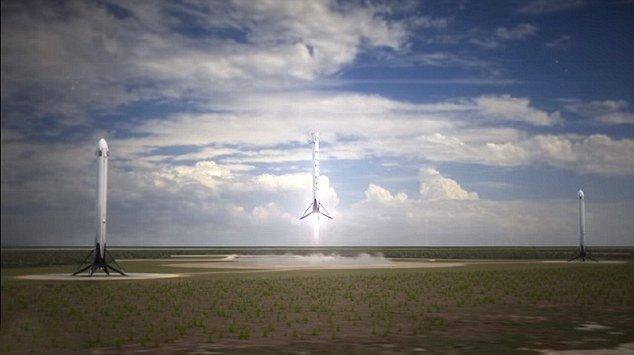 Элон Маск планирует одновременное приземление cразу трех ракет