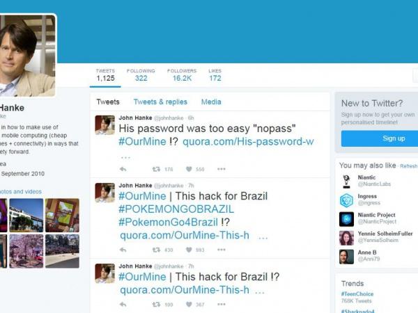 Хакеры взломали учетную запись в Twitter главы Niantic
