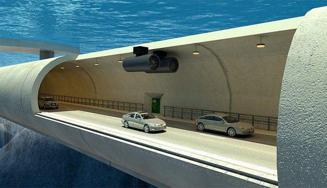 В Норвегии планируется построить плавающие тоннели