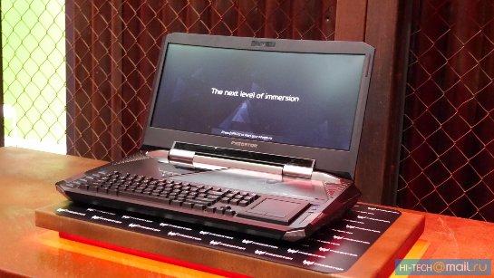Acer показала мощный игровой ноутбук с изогнутым экраном