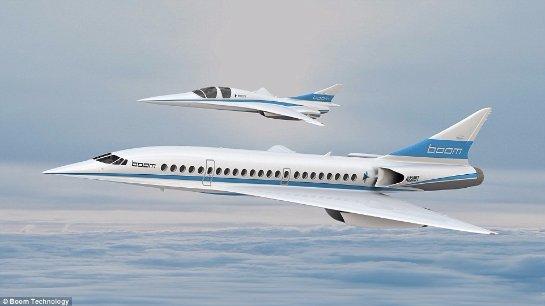 Американцы презентовали прототип сверхзвукового пассажирского самолета