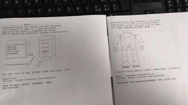 Исследователь взломал 150 тыс. незащищенных принтеров