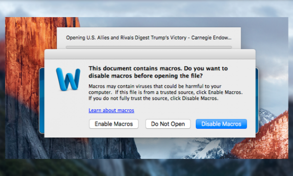Вредоносные документы Word атакуют компьютеры на базе Windows и macOS
