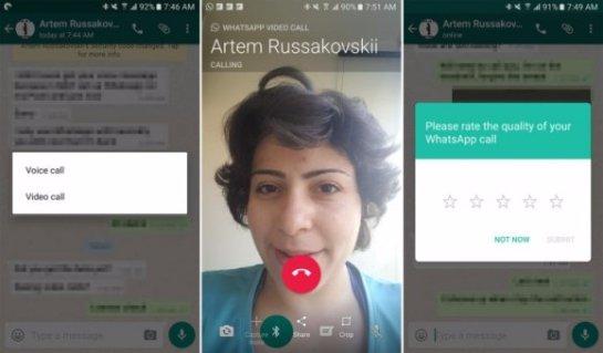 WhatsApp внедряет видео звонки на Android