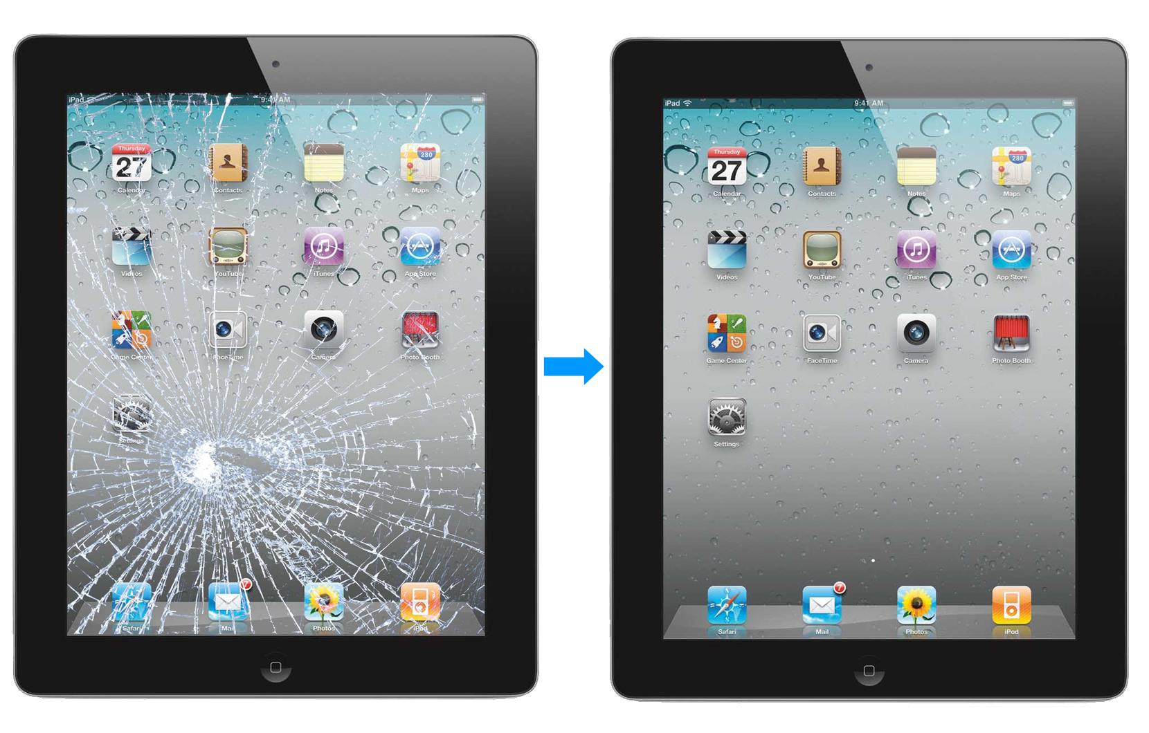 Замена стекла на iPad – 40 минут и готово