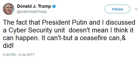 Трамп опроверг создание совместной с РФ группы по кибербезопасности