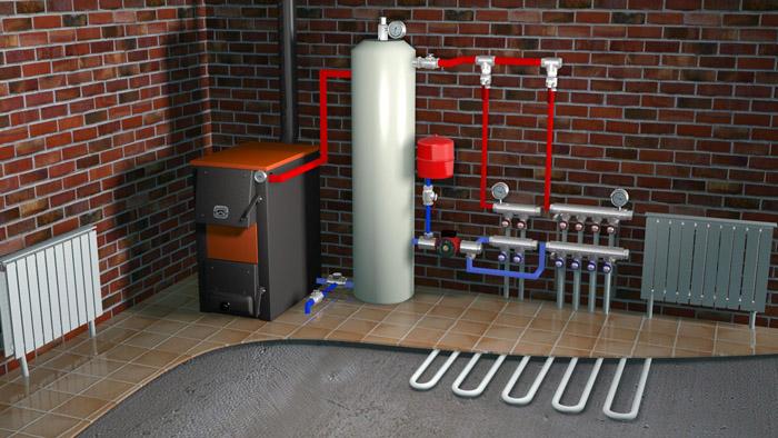 Котлы на твердом топливе для отопления жилых домов