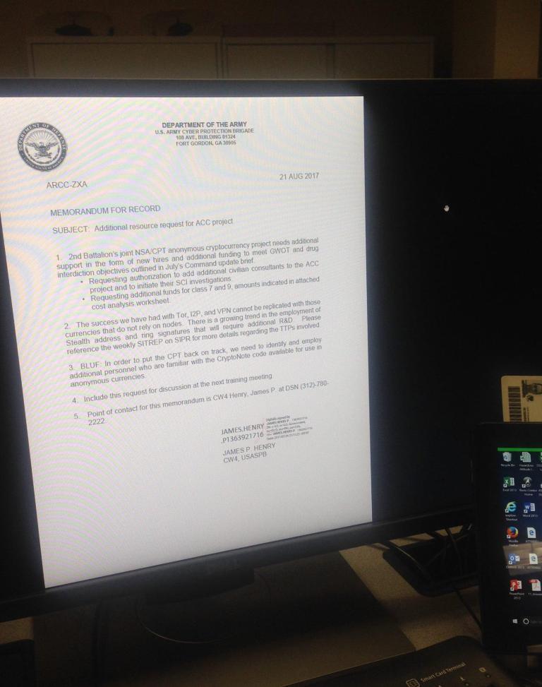 Утекший документ показал интерес АНБ США к контролю за криптовалютами
