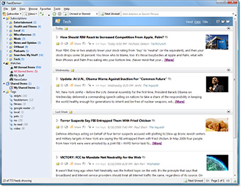 Программа FeedDemon для чтения RSS