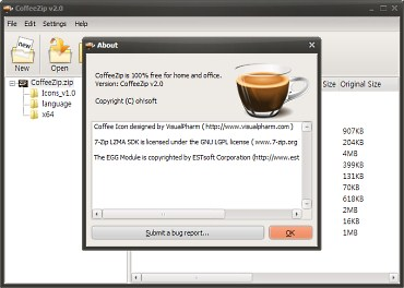 CoffeeZip — компактный архиватор для Windows