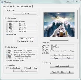PIXresizer — удобный инструмент для пакетного конвертирования изображений